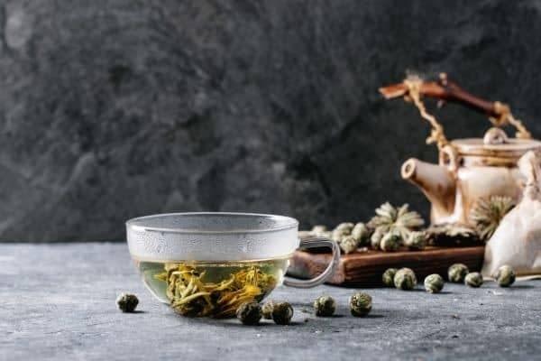 teblade i kop Asamushi sencha, Fukamushi sencha, grøn te, Ibancha, japan, japansk te, Nibancha, Sencha, sencha te